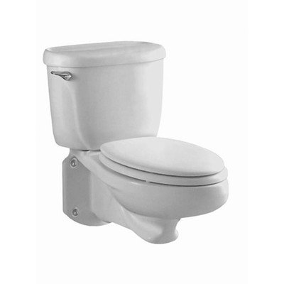 Glenwall Pressure Assisted 1.6 GPF Elongated 2 Piece Toilet Finish: Linen by American Standard (Image #1)