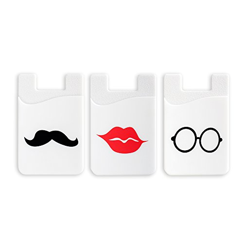 oPesea Phone Card Holder,Adhesive Credit Card Sleeve ID Pocket Stick-on Wallet on The Back of Phone/Case of iPhone,Samsung,LG,BLU,Piexl,Moto,Huawei(Cartoon 3PCS)