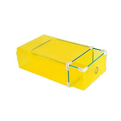 New 1Pc Transparent Plastic Shoes Storage Boxes Foldable Shoes Case Holder  Eco Friendly Waterproof Shoe