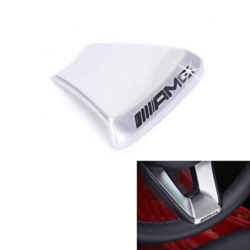 (YIKA New Steering Wheel Emblem Decal Sticker Badge Decoration AMG Logo for Mercedes-Benz GLC C180L C200L C300L New C Class)