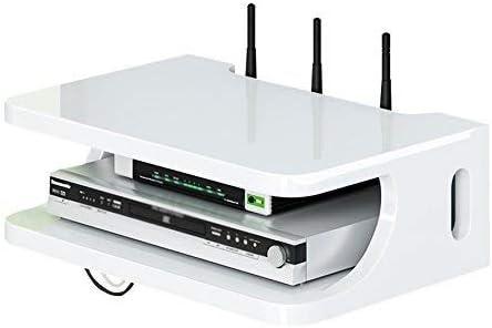 BNlyqj Estante Montado en la Pared Inalámbrico WiFi enrutador Televisor decodificador de Pared Decoraciones Interiores Corte Simple Mueble de Almacenamiento multifunción (Color : A): Amazon.es: Hogar