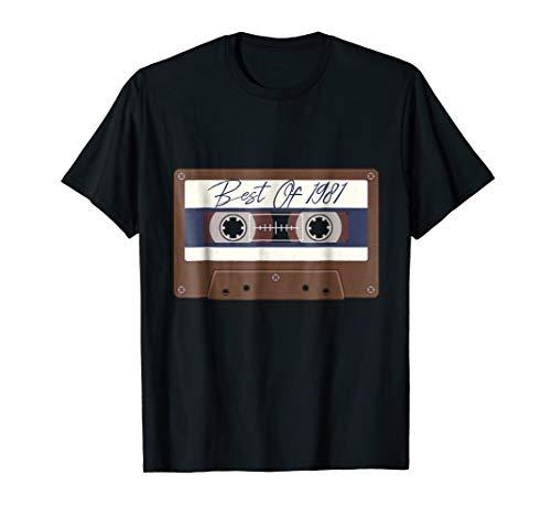 Cassette Tape T-Shirt 1981 Birthday Gift Shirt