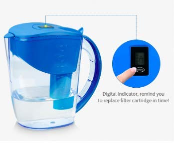 Alkaline pH PLUS BLUE ionized Water PITCHER, 3.5 L By WellBlue, 3 Filters (6 Month ()