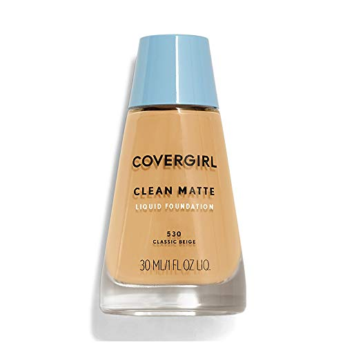 (COVERGIRL Clean Matte Liquid Foundation Classic Beige 530, 1 oz (Pack of 2))
