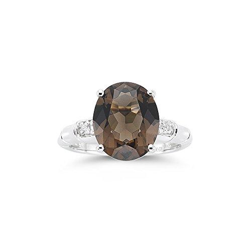 0.03 Cts Diamond & 3.90 Cts Smokey