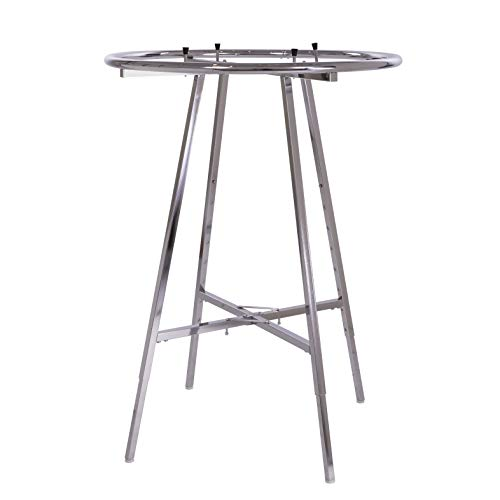 Round Chrome Rack For Clothes, Round Garment Rack, Display Retail Rack, Adjustable Round Rack, Adjustable Height, 36 Inches Diameter