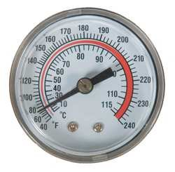 Industrial Grade 1EPE8 Panel Mount Thermometer, 40 to 240 - Thermometer Mount Panel