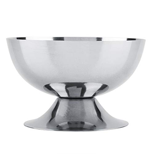 Ice Cream Cups Dessert Dish Stainless Steel Sundae Bowls for Salad Fruit Pudding(Short)