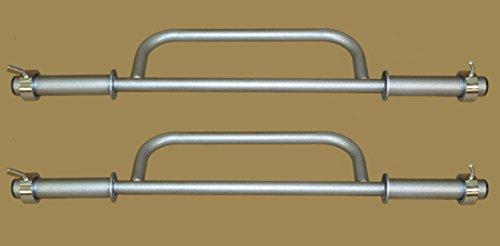 Farmer's Walk Equipment Silver Handles Built To Last.