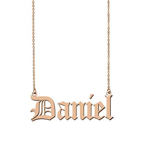 GR859C Custom My Any Name Necklace Daniel ()