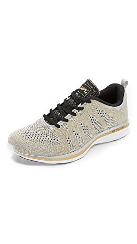 Price comparison product image APL: Athletic Propulsion Labs Men's TechLoom Pro Sneakers,  Silver / Gold / Black