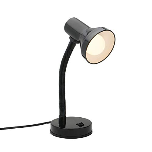 Xtricity Metal Desk Lamp with Adjustable Gooseneck Arm, 7W A19 LED Bulb Included, 120 Volt, Convenient On/Off Switch, 14