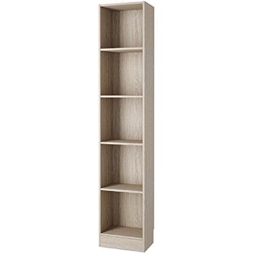 Element Tall Narrow 5-shelf Bookcase Oak - Oak Tall Bookcase