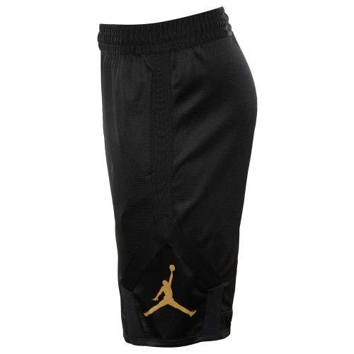 22e9999a95b3f Nike Mens Jordan Rise Diamond Basketball Shorts Black/Gold - Import It All
