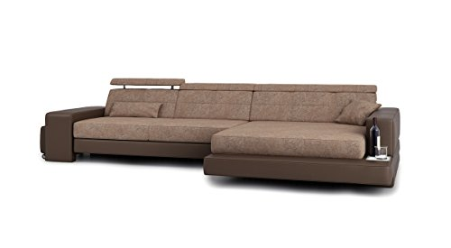 Couch L Form Braun