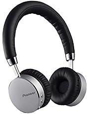 Pioneer SE-MJ561BT(S) Bluetooth on-ear hoofdtelefoon (microfoon/handsfree-functie, NFC, 15 uur afspelen, hoog draagcomfort, voor smartphone, tablet, MP3-speler, aluminium design), zilver