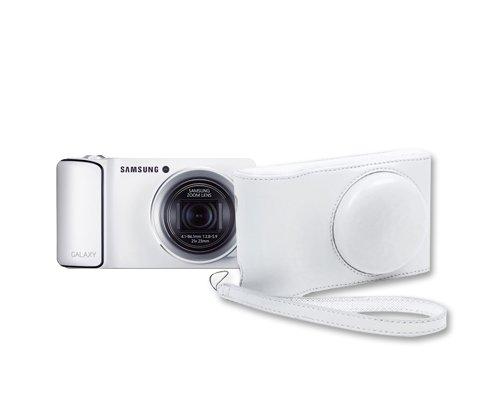 Dsstyles PU Leather Vintage Professional Camera Bag/case for Samsung GALAXY Camera EK-GC110 GC100 White Color