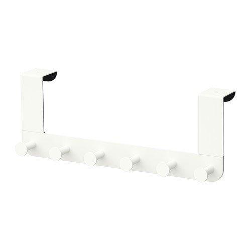 Ikea Enudden Perchero para Puerta, Acero, Blanco, 37x6x5 cm