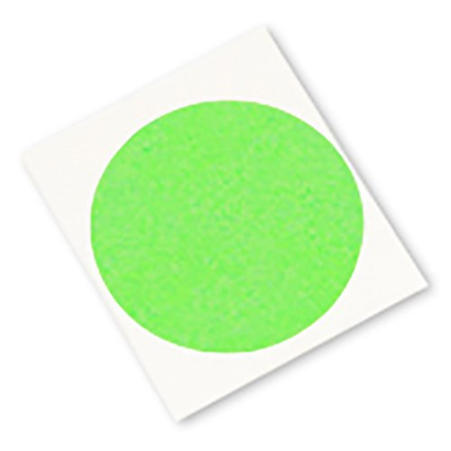 3M 401+ CIRCLE-0.750''-1000 High Performance Masking Tape - 0.750'' Circles, Crepe Paper, Green (Pack of 1000) by 3M