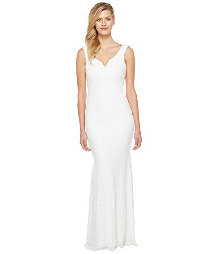 市区町村思いやりのある舌な[バッジェリーミシュカ] Badgley Mischka レディース Sequin Gown with Sweetheart Neck and Corset Waist ドレス [並行輸入品]
