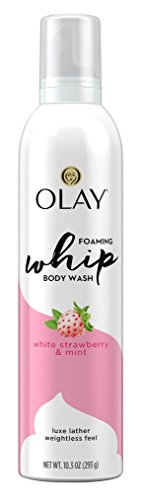 Olay Body Wash Whip White Strawberry + Mint 10.3 Ounce Foam