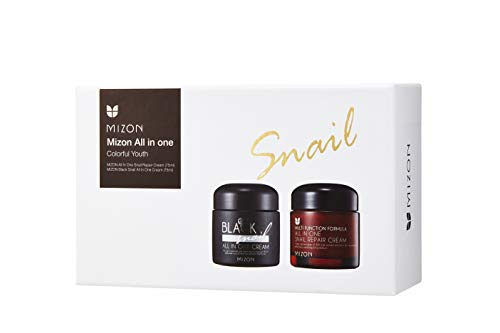 Mizon Colorful Youth Set All in One Snail Repair Cream 75ml and Black Snail All in One Cream 75ml