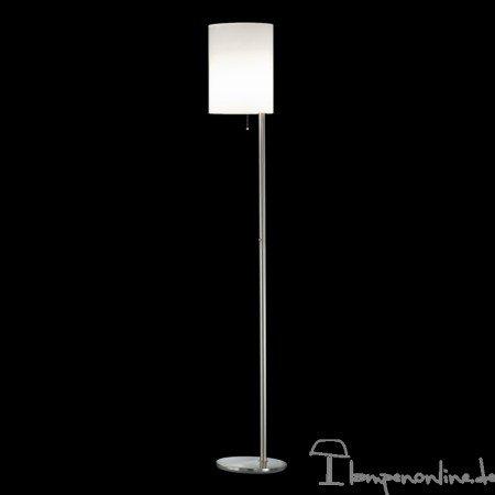 GKS Knapstein - lámpara de pie de níquel mate/cromo de 890 ...