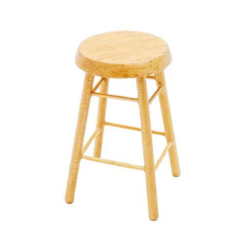Odoria 1:12 Miniature Wood Barstool Counter Stool Dollhouse Furniture Accessories