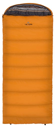 TETON Sports Celsius Regular -18C/0F Sleeping Bag; 0 Degree Sleeping Bag Great for Cold Weather Camping; Orange, Left Zip