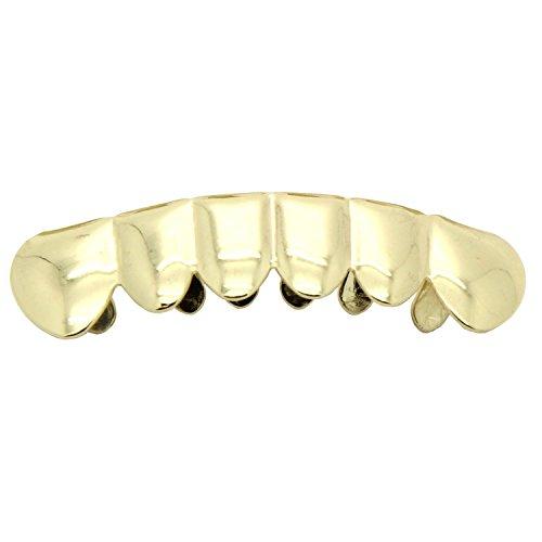 Hip Hop Gold Tone Removable Mouth Grillz (Bottom) Lower Teeth (Lower Teeth Grills Removable)