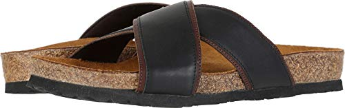 - NAOT Men's Cheyenne Jet Black Leather/Toffee Brown Leather 44 M EU