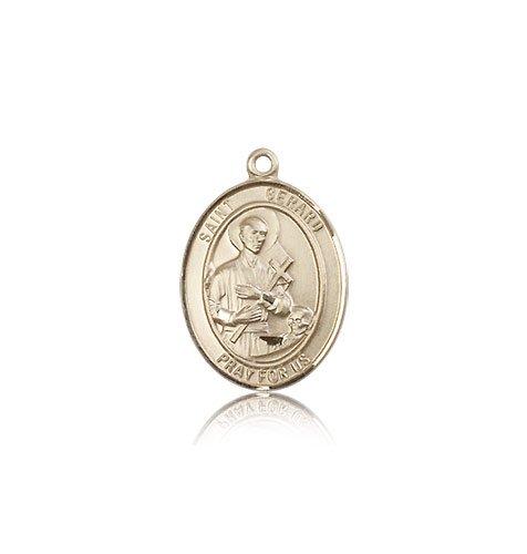 14 ktゴールド聖Gerard Majella medal B008JL2XG6