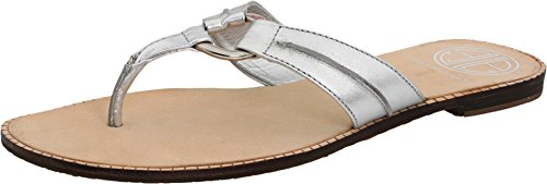 LILLY PULITZER Women's McKim Sandal (Silver Metallic 10.0 M)