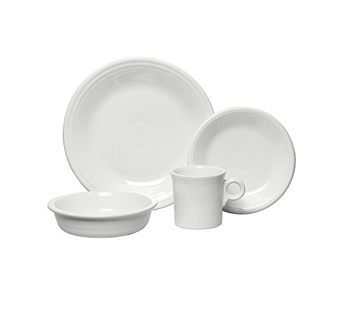 White 4 Piece Place Setting - 2