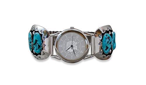Firebird Jewelers Vintage Silver Sleeping Beauty Shadowbox Turquoise Watch Tips Ted Goodluck ()