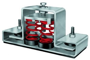 5-1/8''H 3/8'' x 1'' Screw 3/8''Dia Bolt 625Lb Floor Mount Seismic & Wind Vibration Isolator by MASON INDUSTRIES INC