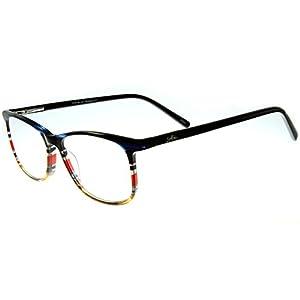 Aloha Eyewear Tek Spex 1011 Unisex RX-Able Reader Glasses / Sunglasses with Progressive Photochromic Lens (Blue / Red +2.50)