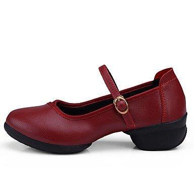 Rojo No baile Moderno Personalizables Blanco Negro Cuadrado Black de Zapatos Tacón ABnYqtx