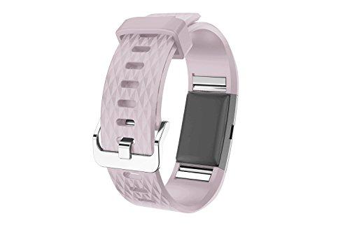 Fitbit Charge2 Armband, Venter® Weiche Silikon-justierbares Wiedereinbau-Sport-Bügel-Armband für Fitbit Charge 2 Heart Rate
