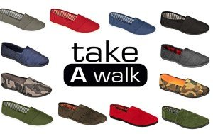 Take With On Walk A Sole Canvas Black Women For Slip White rU8frqWwTO