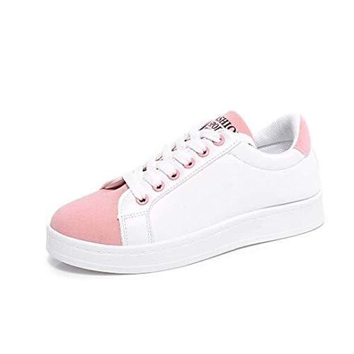 Primavera ZHZNVX Nappa Grigio Nero Pelle chiusa piatto Black da Estate Rosa Punta Comfort Scarpe donna Suede Sneakers Tacco YSrYnp
