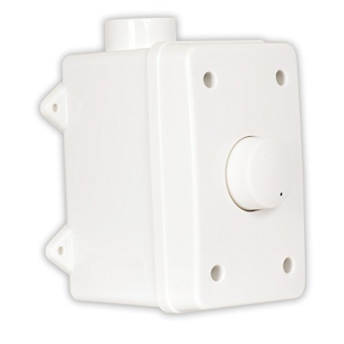 Box Volume Control Weatherproof - Theater Solutions OVCDW Outdoor Speaker Volume Control White Weatherproof Dial Switch