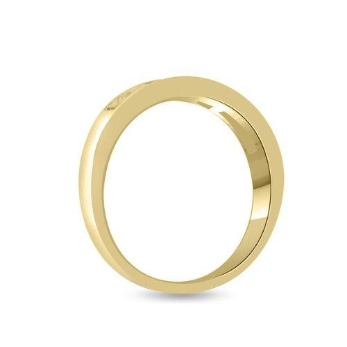 0.45ct F/VS1 Bague de demi éternité en diamant pour femme coupe Princesse diamants en 18ct or jaune