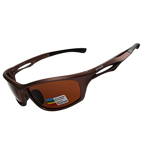 Adisaer Sport Brille Herren Colorful Polarized Sports Suit Riding Glasses Goggles Brown Black for Adults (Teen-brillen)