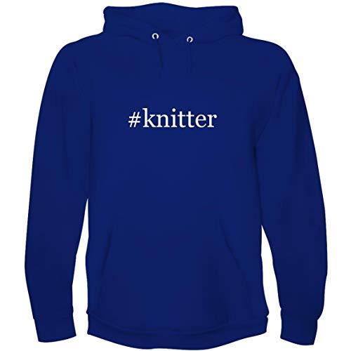 The Town Butler #Knitter - Men's Hoodie Sweatshirt, Blue, ()