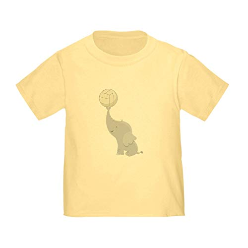 - CafePress Volleyball Elephant Gift Toddler T Shirt Cute Toddler T-Shirt, 100% Cotton Daffodil Yellow