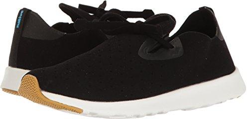 Native Shoes Apollo Moc Sneaker, Jiffy Black/Shell White/Natural Rubber, 8 Men's M US