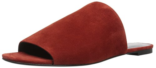 Via Spiga Women's Heather Slide Sandal, Brick Suede, 8.5 Medium US by Via Spiga