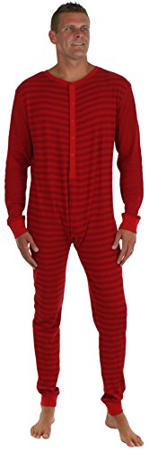 Sleepyheads Men's Thermal Onesie without Feet Red (SH2389-M-4048-XL) (Adult Onsie With Feet)