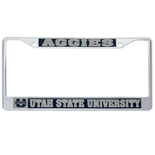 Desert Cactus Utah State University Aggies Metal License Plate Frame for Front Back of Car Officially Licensed (Mascot) (Utah State License Plate)